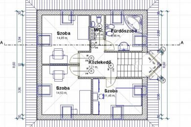 Családi házak tervezése, háztervek, látványterv